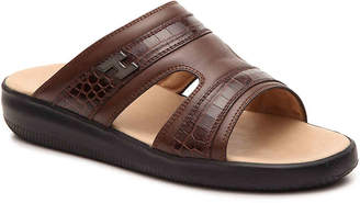 Hogan Leather Slide Sandal - Men's