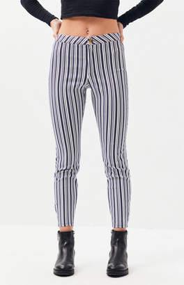 La Hearts Striped Button Leggings