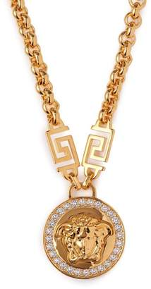 Versace Medusa Charm Chain Link Necklace - Womens - Gold