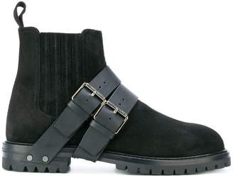 Valentino buckle strap detailed boots