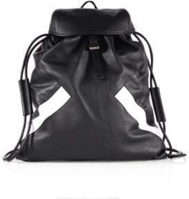 Neil Barrett Retro Modernist Leather Rucksack