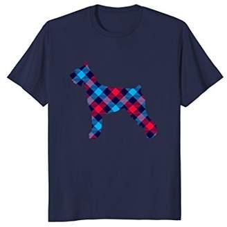 Giant Schnauzer Plaid Dog Silhouette T-Shirt v3