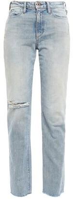 Simon Miller Pardee Distressed High-rise Straight-leg Jeans