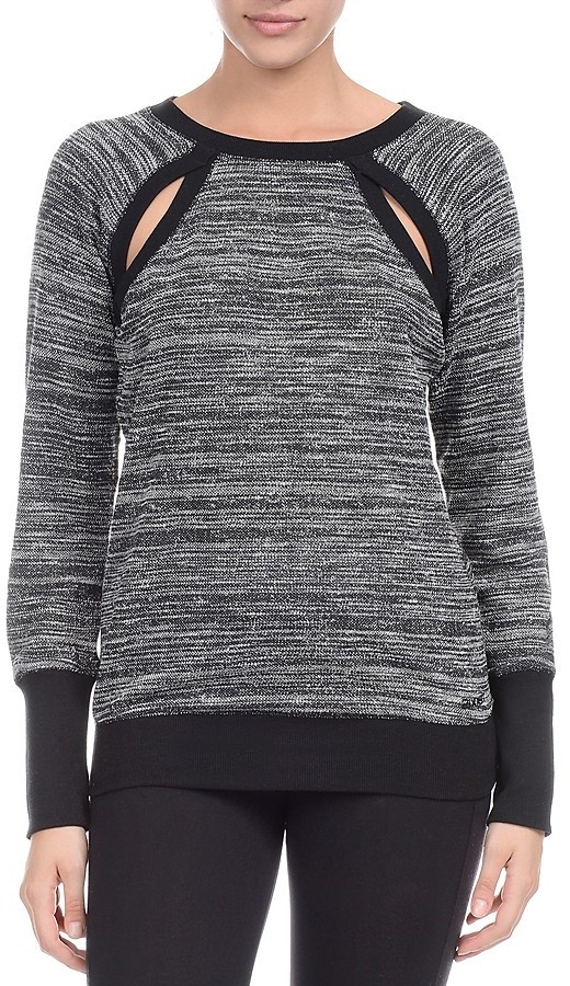 2(X)IST Cutout Long Sleeve Sweatshirt