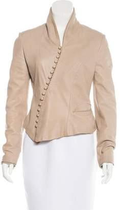 Nina Ricci Leather Asymmetrical Jacket
