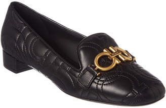 Salvatore Ferragamo Gancini Quilted Leather Loafer