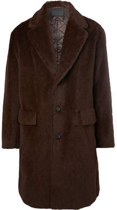 Prada Oversized Textured Alpaca And Cotton-Blend Coat