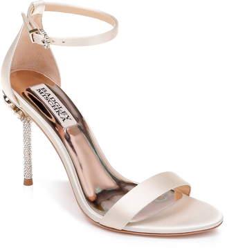 Badgley Mischka Collection Vicia Crystal Embellished Heel Sandal