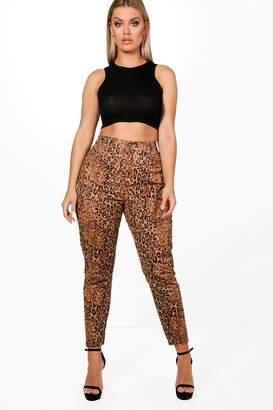 boohoo Plus Leopard Skinny Jean