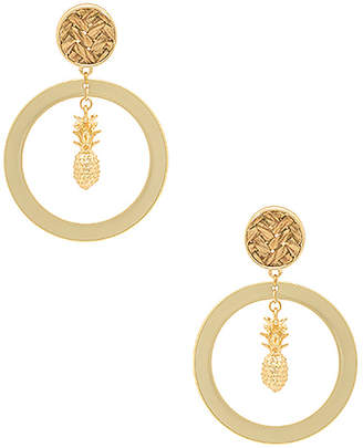 Ettika Pineapple Drop Earrings