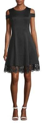 Donna Ricco Lace Cold-Shoulder Fit-&-Flare Dress
