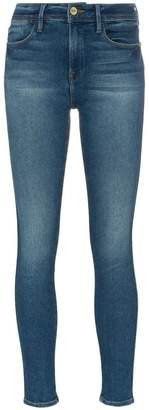 Frame Le High Straight Double Needle skinny jeans