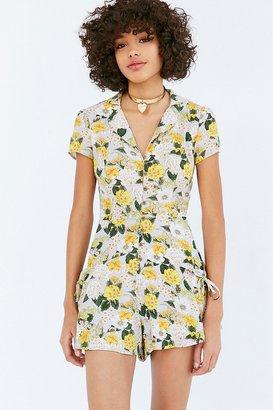 Kimchi Blue Beth Ann Collared Shirt Romper $69 thestylecure.com