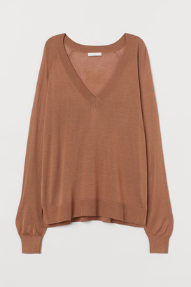 H&M V-neck Sweater - Beige