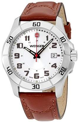 Wenger Men's 70480 Alpine Stainless Steel Watch with Leather Band