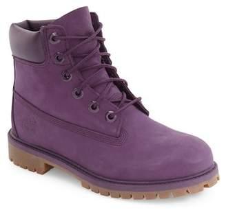 Timberland 6 Premium Waterproof Leather Boot (Bid Kid)