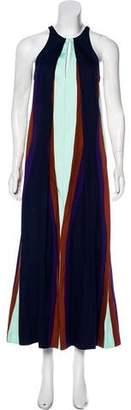 Diane von Furstenberg Colorblock Maxi Dress