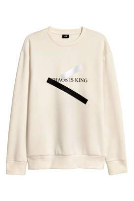 H&M Sweatshirt with Motif - Natural white - Men
