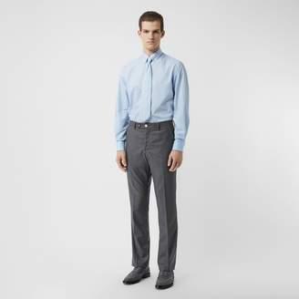 Burberry Button-down Collar Geometric Print Cotton Shirt