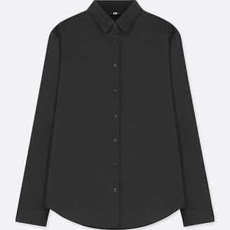 Uniqlo Women's Supima Cotton Stretch Broadcloth Long-sleeve Shirt
