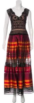 Alberta Ferretti Silk Striped Dress