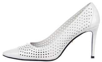 Prada Perforated Patent Leather Pumps Perforated Patent Leather Pumps