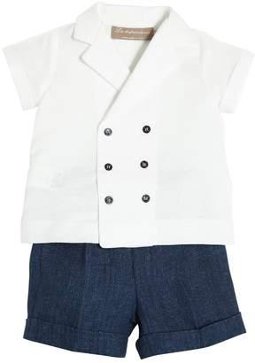La Stupenderia Cotton & Linen Blend Shirt & Shorts