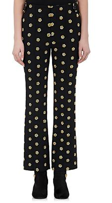 Chloé Women's Embroidered Suiting Piqué Trousers $1,395 thestylecure.com