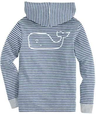 Vineyard Vines Boys Long-Sleeve Heather Stripe Whale Pocket Hoodie T-Shirt