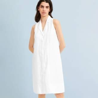 Everlane The Linen Sleeveless Shirtdress