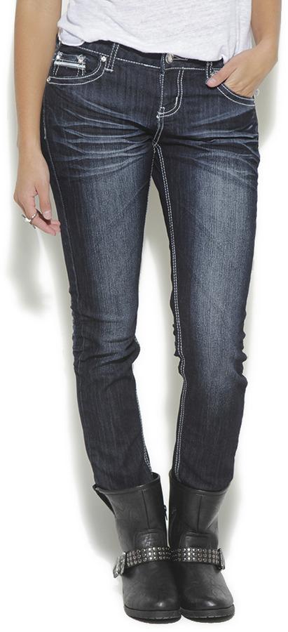Wet Seal Flap Pocket Skinny Jean