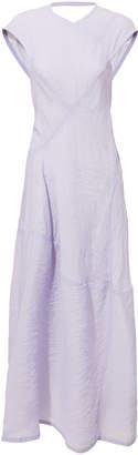 Lilac Open Back Midi Dress