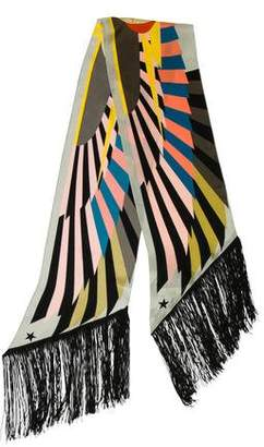 Givenchy Silk Abstract Scarf w/ Tags