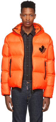 DSQUARED2 Orange Down Ripstop Sports Jacket