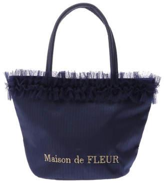 Maison de Fleur (メゾン ド フルール) - Maison de FLEUR ・ドットチュールフリルトートバッグ