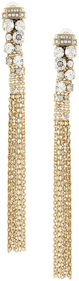 LanvinLanvin crystal embellished fringed earrings