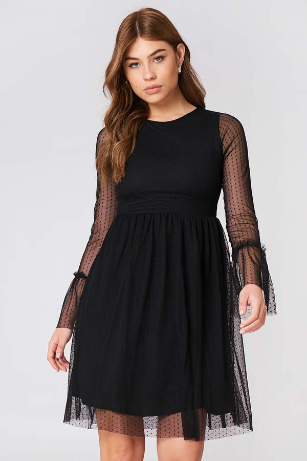 Na Kd Party Dotted Mesh Dress