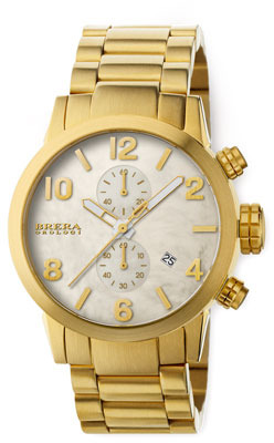 Brera 18k Gold IP Isabella Chronograph
