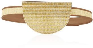 Poolside Metallic Raffia Belt Bag
