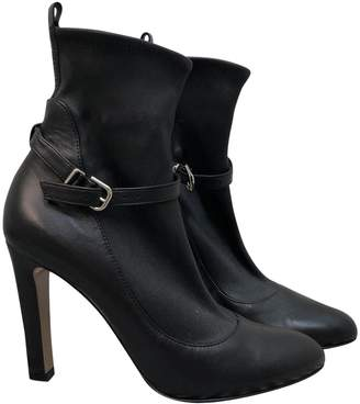 Gianvito Rossi Black Leather Ankle boots