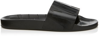 Jimmy Choo REY/M Black Rubber Slides