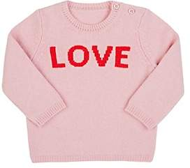 """Lisa Perry Kids' """"Love"""" Cashmere Sweater-Pink"""