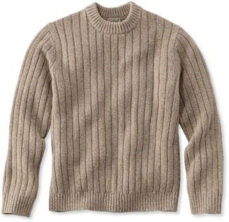 L.L. Bean L.L.Bean Men's Classic Ragg Wool Sweater, Rib-Knit Crewneck