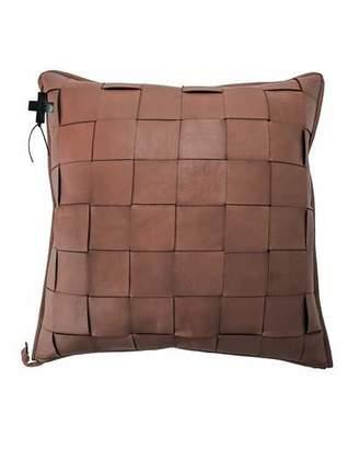 Jan Barboglio Saddle Trenza Woven Leather Pillow