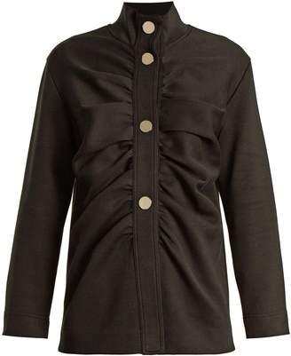 Marni Gathered-front cotton-blend jacket