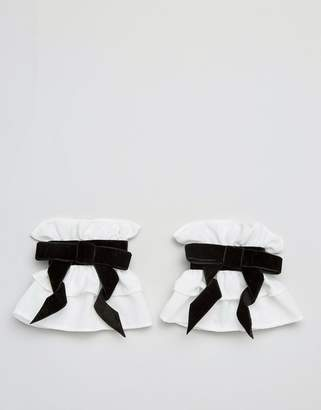 Asos Design Velvet Bow Cuffs
