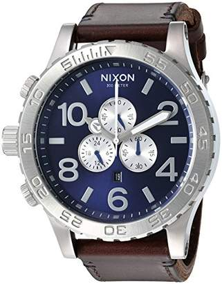 Nixon Men's '51-30 Chrono' Quartz Stainless Steel and Leather Watch