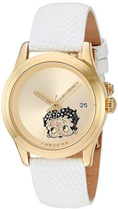 Invicta Women's 'Character Collection' Automatic Stainless Steel and Leather Casual Watch