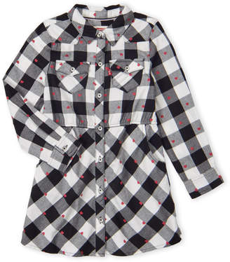 Levi's Girls 4-6x) Buffalo Plaid & Hearts Dress