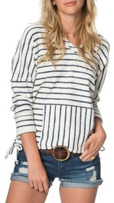 Women's O'Neill Gansett Stripe Pullover $54 thestylecure.com